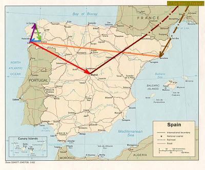 Blanca de Tour por España